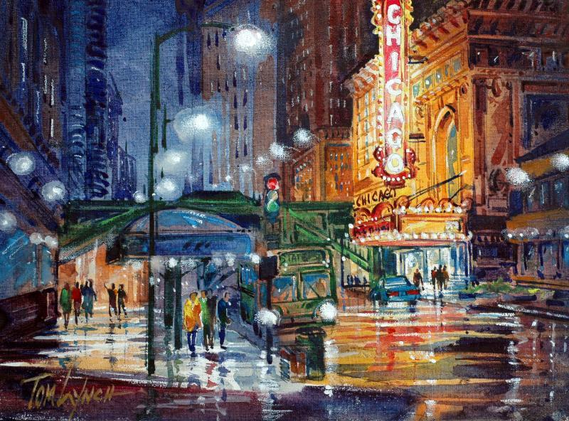 Classic Chicago 9 X 12 Originals All Artwork Tom Lynch Fine Art World